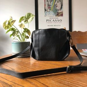 Black Leather Madewell Crossbody Bag